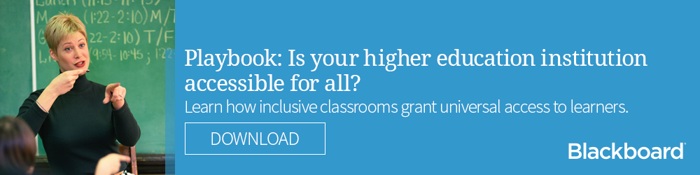 Is your higher education institution accessible for all? Click to download our playbook.